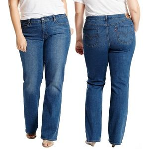 Levi's 415 Relaxed Bootcut Denim Jeans Blue Sunday